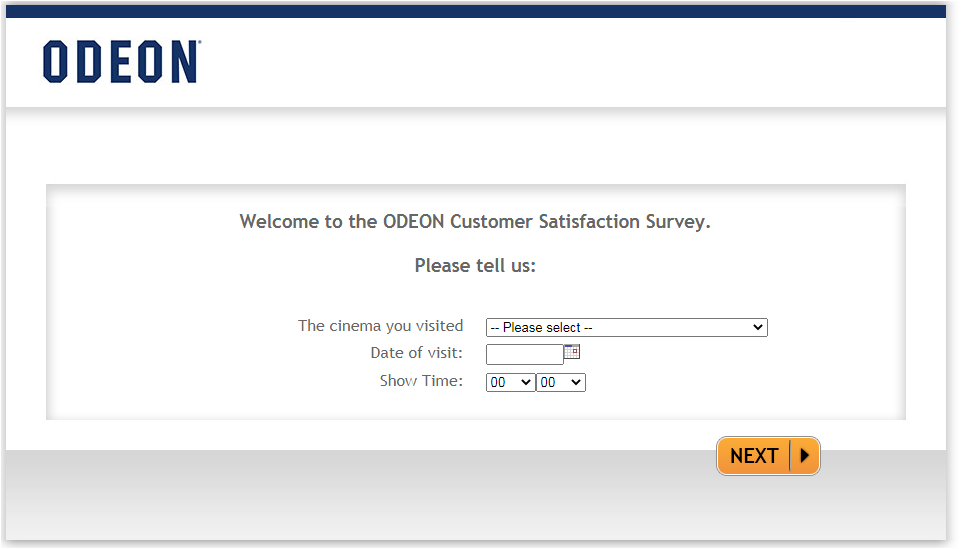 Tell Odeon Customer Experience Survey