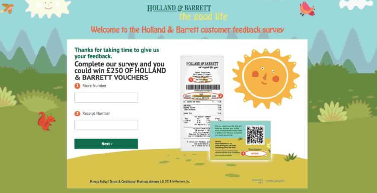 Holland & Barret Customer Experience Survey