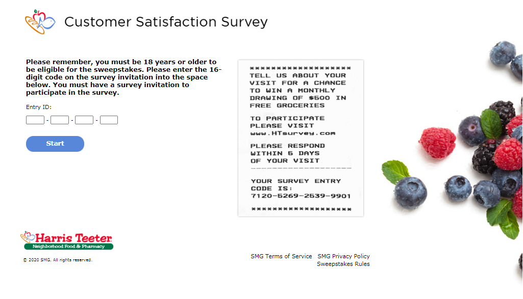 Harris Teeter Customer Experience Survey