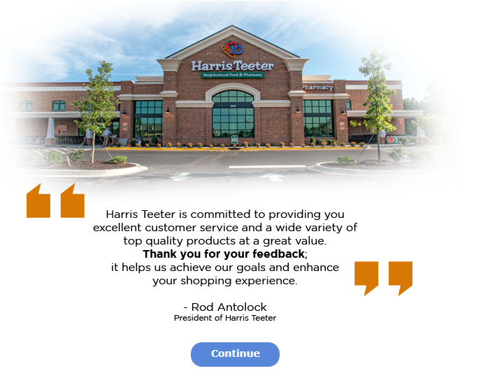 Harris Teeter Guest Satisfaction Survey