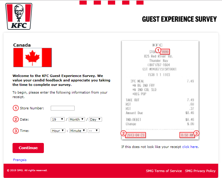 KFC Canada Customer Experience Survey