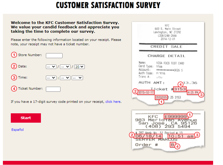 KFC Customer Satisfaction Survey For USA