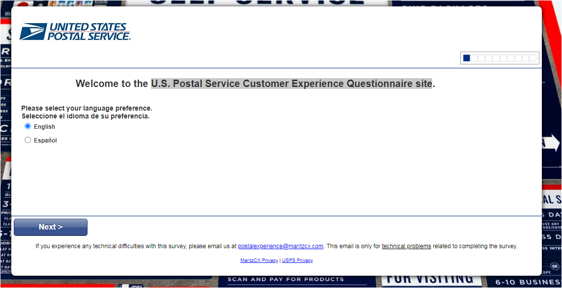USPS Customer Feedback Survey