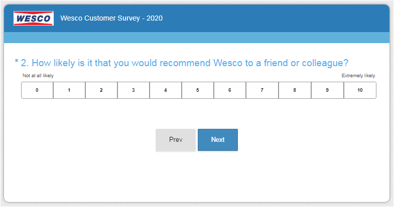 Wesco Customer Experience Survey