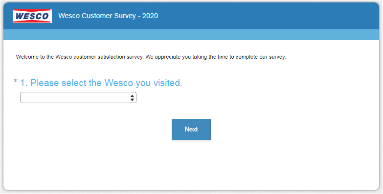 Wesco Listens Customer Experience Survey