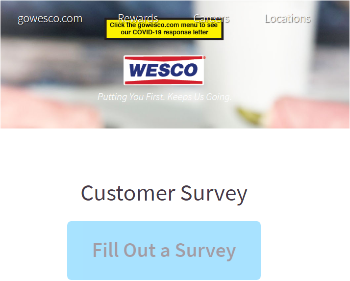 Wesco Listens Guest Satisfaction Survey